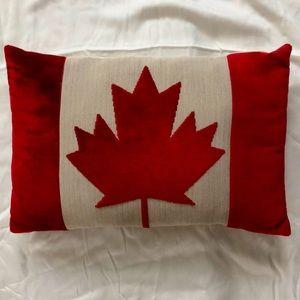 Canadian Flag plush lumbar pillow